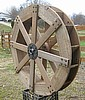 3 1/2' aged water wheel